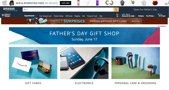 Amazon Father's day