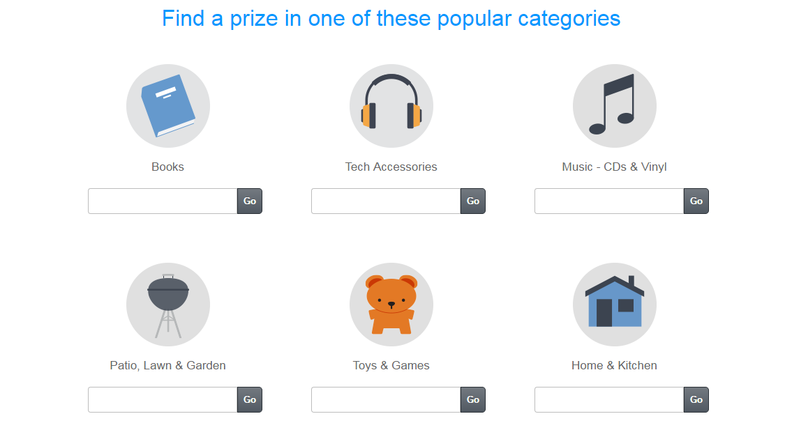 Amazon Giveaway popular categories