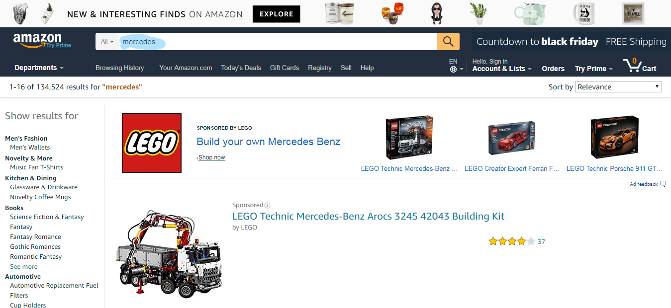 Amazon Keywords Mercedes