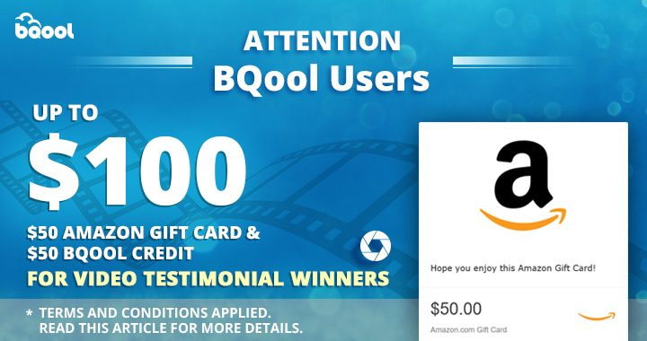 Bqool Testmonial Video Reward