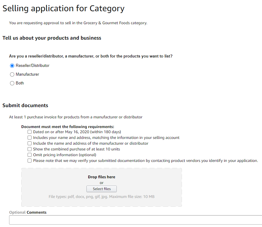 Grocery category application - 1