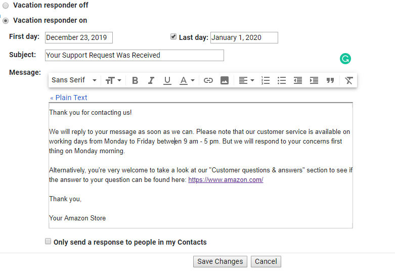 amazon-message-gmail-auto-reply